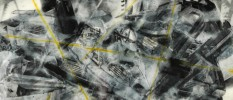 AutoMotion 116 Mixed Media on Acrylic Panel, 36 x 72 inches