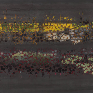 TRIBE 178 - 2013, acrylic, watercolor, graphite on paper, 35.5 x 72 inches (AVAILABLE)
