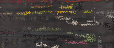 TRIBE 180, 2013,  acrylic, watercolor, graphite on paper,  35.5 x 72 inches View full size
