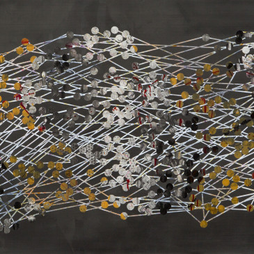 TRIBE 191 - 2014, acrylic, watercolor, graphite on paper, 30.25 x 65.25 inches (SOLD)