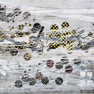 BLAZE 206 - 2014, graphite, acrylic, watercolor, ink on paper, 35.25 X 55.5 inches (SOLD)