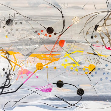 BLAZE LINE PAINTING 1 - 2019 acrylic, found paper, watercolor, graphite, ink on paper, 44 H X 86 W inches (AVAILABLE)